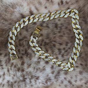 "Miami Cuban Link Unisex Choker Necklace 16"""